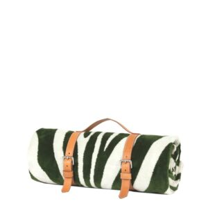 Foliage Green Zebra Hide Beach Towel Classic Strap