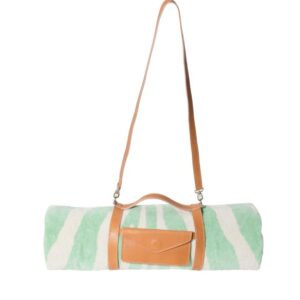Mint Zebra Hide Beach Towel Crossbody