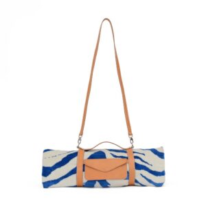 Marine Tiger Hide Beach Towel Cross Body Strap