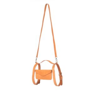 Leather Crossbody Holster Suntan