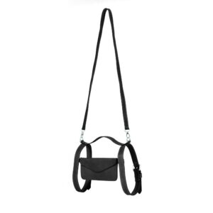 Leather Crossbody Holster in Black