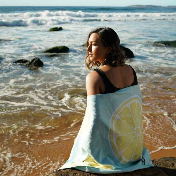 Sand Society Lemons beach towel